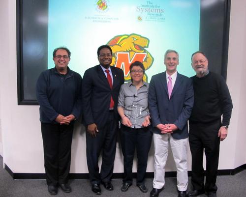 Dr.Reza Ghodssi, Dean Darryll Pines, Distinguished Scholar-Teacher Prof. Sennur Ulukus, Prof. John Bertot, and Prof. Steve Marcus