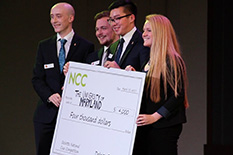 Pictured, from left to right: Joshua Cocker, Conor Casey, Alex Tran and Brooke Nesselt.