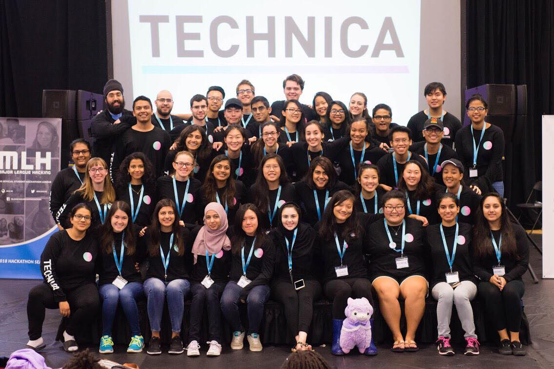 Volunteers and Mentors of Technica, hosted November 4-5, 2017.