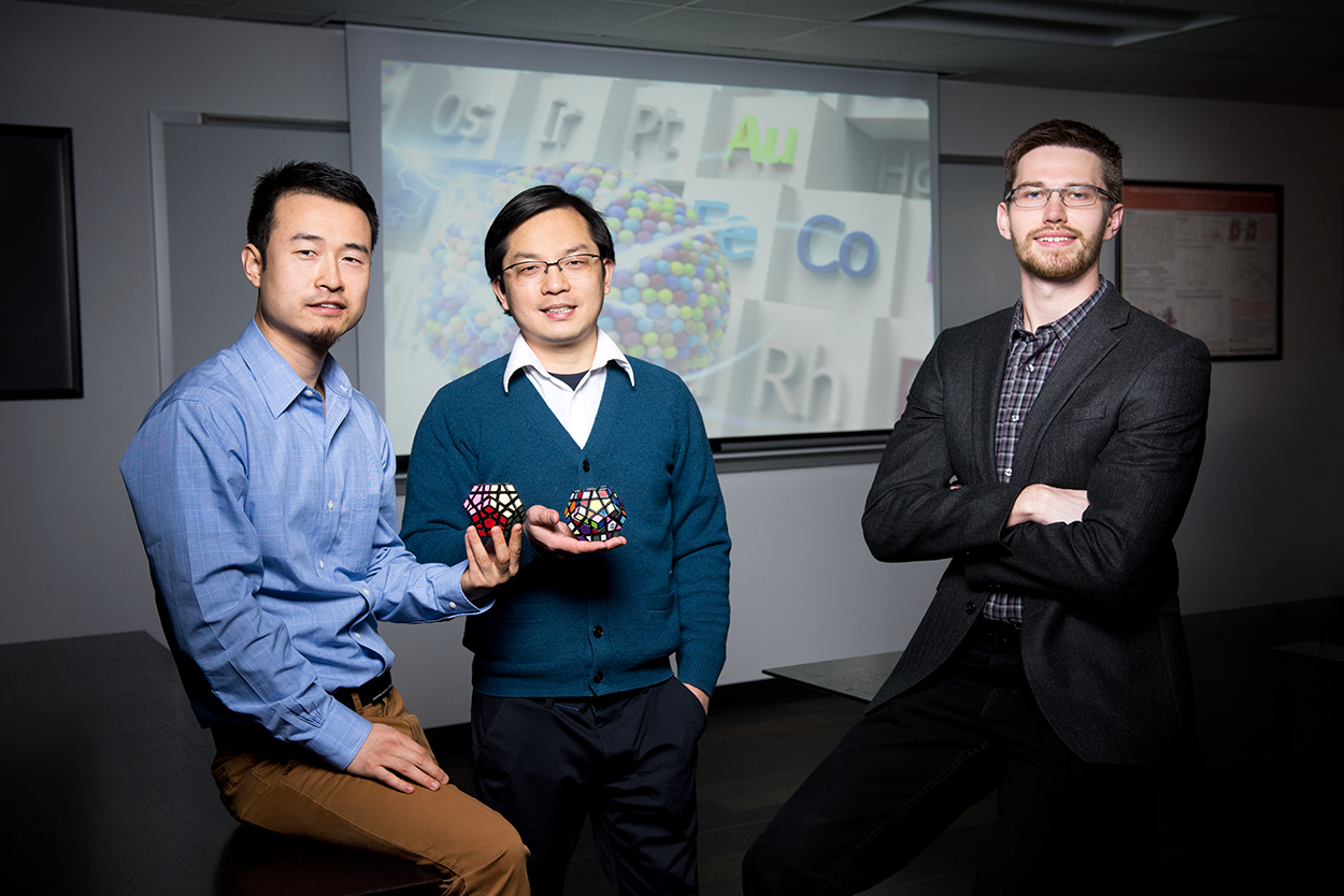 From left to right: Yonggang Yao, Liangbing Hu, and Steven D. Lacey of the University of Maryland research team. Credit: Mike Morgan for the University of Maryland.