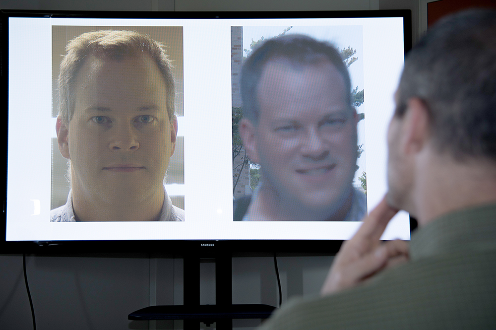 Photo: Are these two faces the same person? Trained specialists called forensic face examiners testify about such questions in court. A new study indicates combining their expertise with state-of-the-art face recognition software gives the best accuracy. Credit: J. Stoughton/NIST