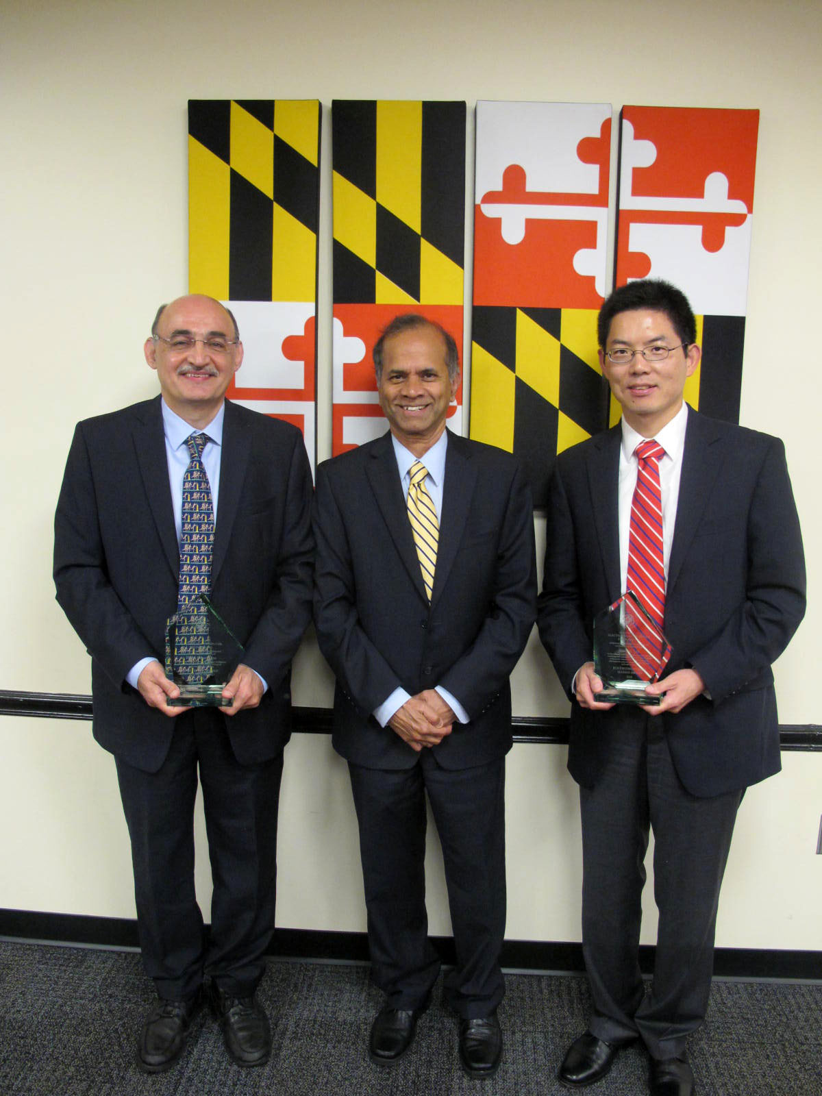 L-R: Dr. Reza Ghanadan, Dr. Rama Chellappa, and Dr. Xiaobo Tan.