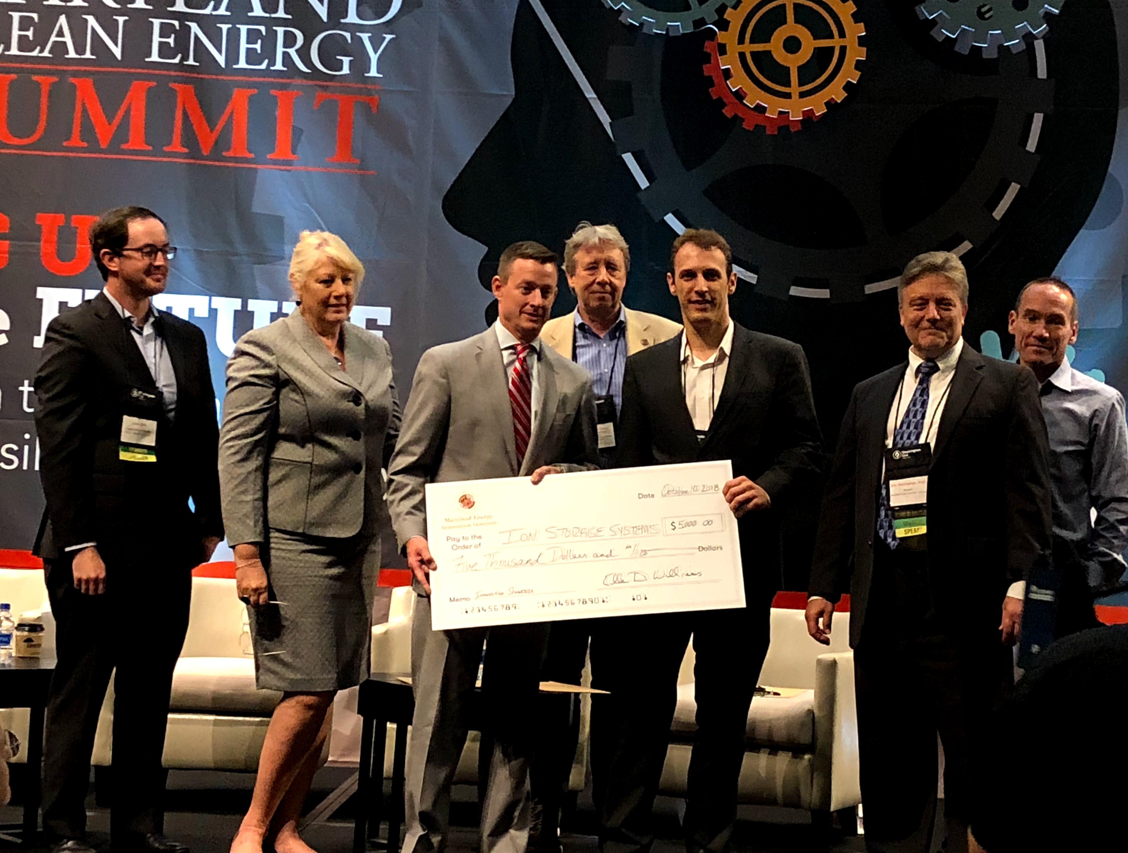 Greg Hitz, CTO of Ion Storage receives prize