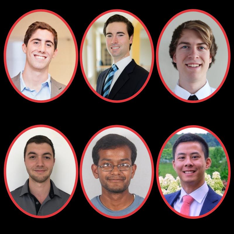 Left to right: Daniel Escobar, Thomas Herrmann, Nicholas Rehm, Derek Safein Matheu, Abshishek Shastry, Frederick Tsai