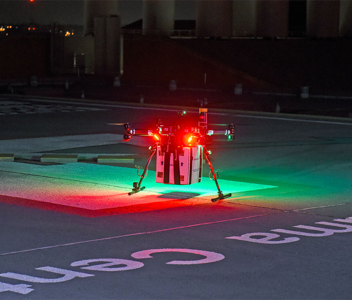 This special UMD-created drone that successfully delivered a kidney for transplant is an example of