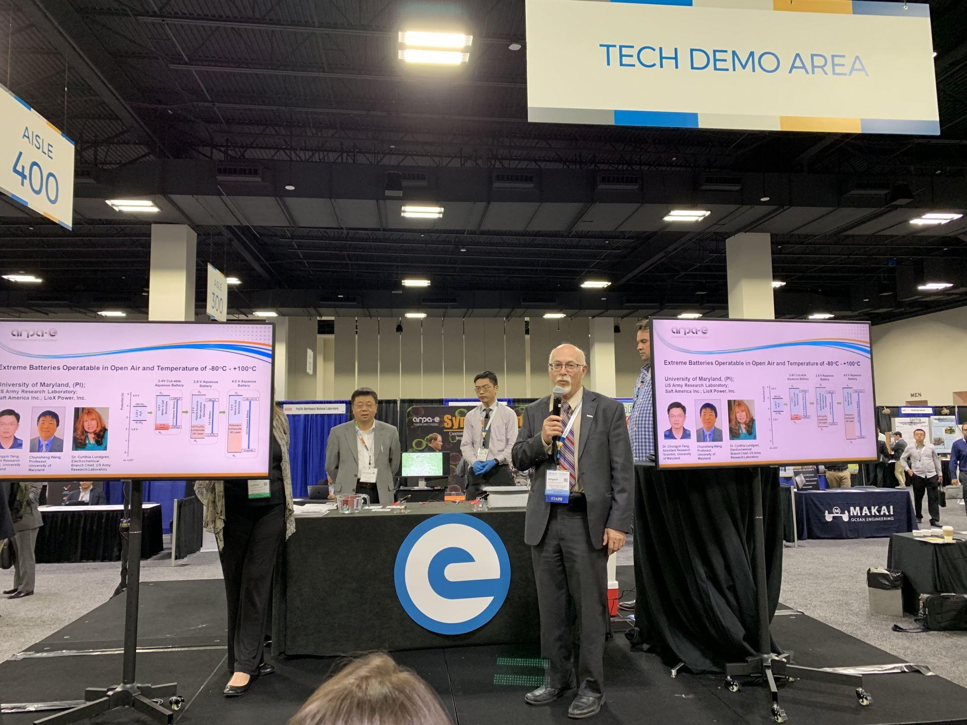 APRA-E program director introduces aqueous battery at DOE Technology Showcase