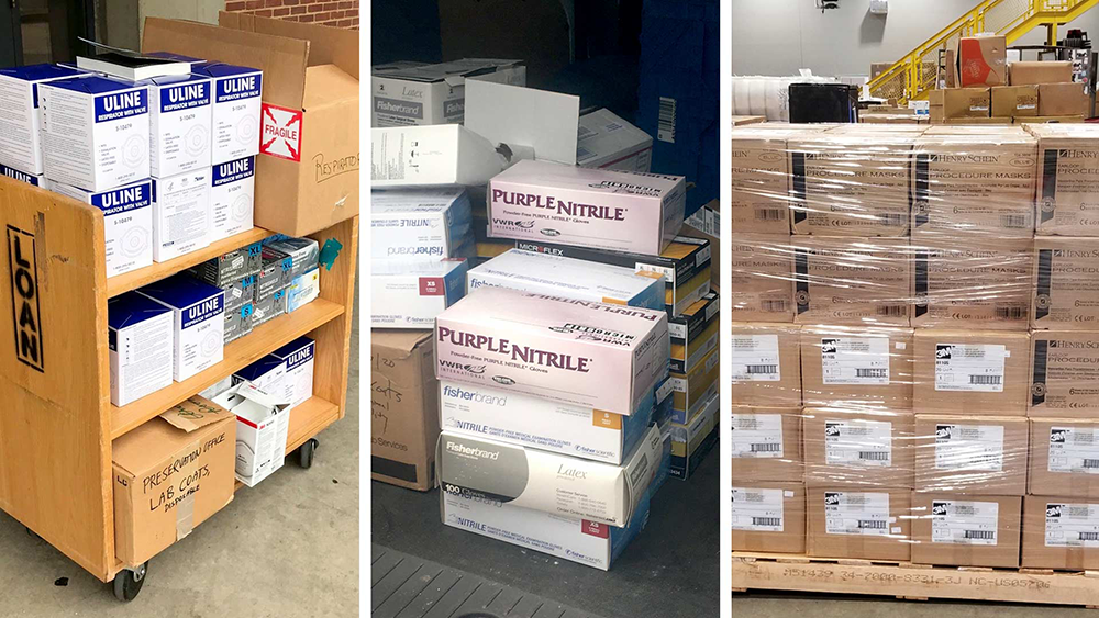 Students, faculty, and staff at UMD collected thousands of pairs of gloves, surgical masks, and other medical supplies to donate to medical workers fighting the COVID-19 epidemic.