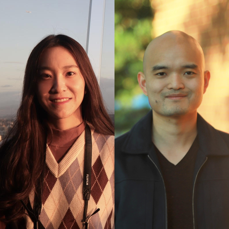 Xiao Zhang (left) and Joseph Chung (right)