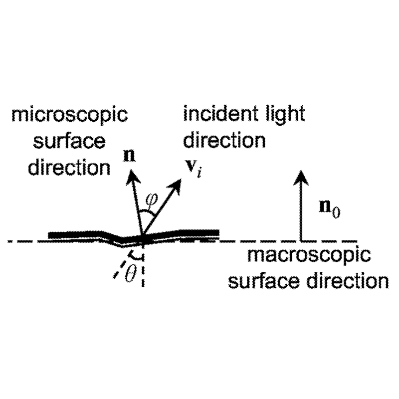Figure 1 from the patent shows the surface normal direction and incident light direction of a particular spot in a microscopic view.