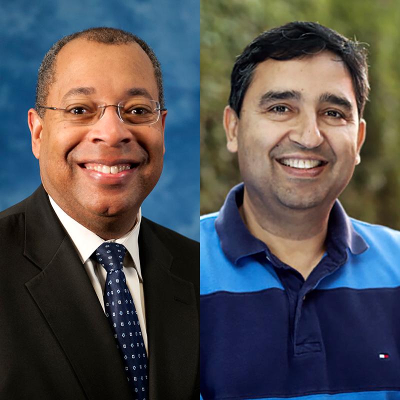 Christopher T. Jones (Ph.D. '97) and Rajiv Laroia (M.S. '89, Ph.D. '92)