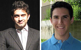 Amir Ahmadi (left) and Mike Horak (right) received the ECE Chair's Award