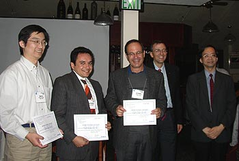 Left to right: Gang Qu, Aydin Balkan, Uzi Vishkin and the 2006 program co-chairs for ASAP