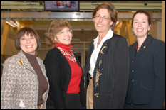 L-R: Marilyn Berman Pollans, Norine Walker, Mary Lacey and Paige Smith.