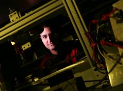 Nima Ghalichechian in the MEMS Sensors and Actuators Laboratory