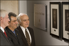 From left to right: Former dean and outgoing provost William Destler, outgoing dean Nariman Farvardin and Herbert Rabin, interim dean as of July 1.
