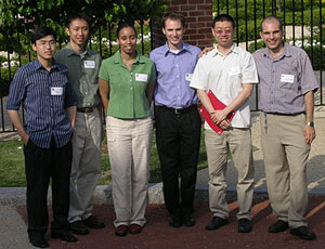 Left to right: Yao Li, Steve Tjoa, Nicole Nelson, David Sander, Peng Xu, and Mohamed Fahmi