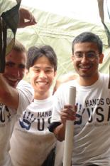 Mark Treadwell, Amon Ducao and Sajjad Husain work in Pass Christian, Miss.