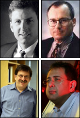 Clockwise from top left, Bill Bentley, Greg Payne, Reza Ghodssi, Gary Rubloff.