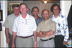 Kothari hosts 30th Graduation Anniversary dinner. Former students in attendance included Ajay Korthari, Mike Griffin, Karungulam Parthasarathy, Ramachandra Diwakar and Mike Jobe