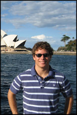 Mechanical Engineering undergrad Andy Eisold near the Sydney Opera House in Australia.