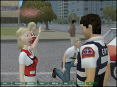 Screen capture from the CATT Lab's 3D training game.