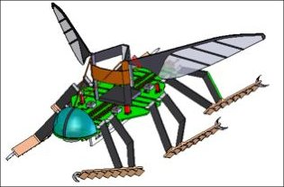 Rendering of one of the micro-vehicles.