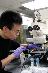 Xiaolong Luo, one of the graduate students working on this research.
