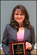 Stephanie Karpovitch, a recipient of the Department of Mechanical Engineering Chairman's Award.