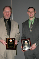 Minta Martin Professor J. Gordon Leishman and First Year Aerospace Graduate Student Bradley Johnson receive the Lindenbaum Award.