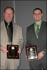 Minta Martin Professor J. Gordon Leishman and First Year Aerospace Graduate Student Bradley Johnson receive the Lindenbaum Award.