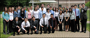 The Class of May 2008 with Professor Yang Tao (far right).