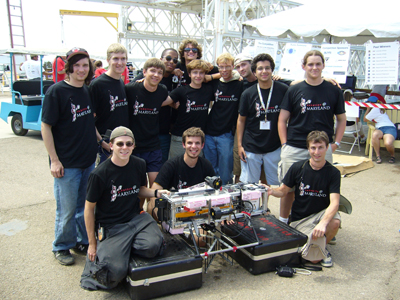 The Robotics@Maryland team at the competition.