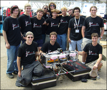The Robotics@Maryland team members who competed in San Diego.