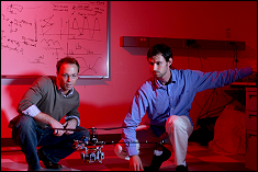 Dr. J. Sean Humbert and student Joseph Conroy of the Autonomous Vehicle Laboratory have focused their research efforts on understanding biological sensory systems and sensorimotor architectures.