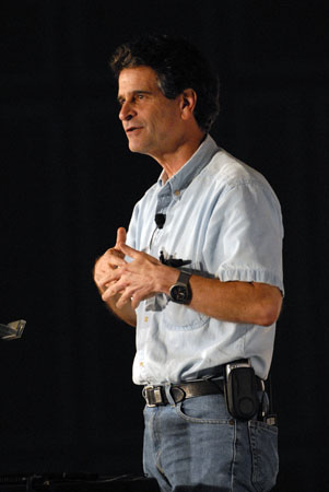 Dean Kamen at the ECE Centennial. Photo by Keith Mosher.