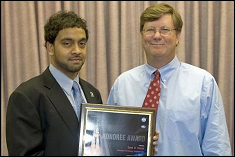 On November 24, 2008, Hassan received the Space Flight Awareness Honoree Award.