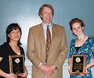 Left to Right: Christine Lau, Professor and Chair Robert M. Briber, and Hilary Lane.