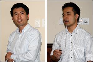 Kensuke Iwanaga (L) and Tetsuaki Nakano