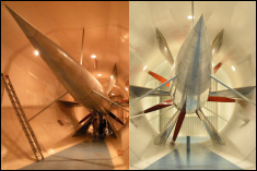 This split view of the GLMWT drive section and propeller illustrates a dramatic change.