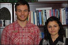 Peter Mueller & Funda Karatas, visiting students from Germany