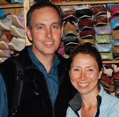 Brian and Tabetha Hinman on a recent trip to Morocco.