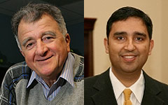 Prof. Anthony Ephremides (left) and Dr. Rajiv Laroia (right)
