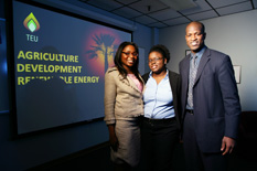Tseai's team, left to right: Nnenna Nwosu, Akua Nkrumah, and Trevor Young