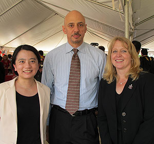 From left to right: Min Wu, Adrian Papamarcou, and Teresa Moore.
