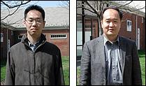 ISR Visiting Scientists from Toshiba: Ko Miyauchi (L) and Tomoaki Kubo (R)