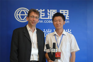 Professor Trouvé being interviewed at the 33rd International Symposium on Combustion in Beijing on future challenges for combustion and fire research.