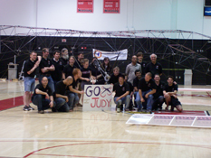 The Gamera team after the record-setting flight.