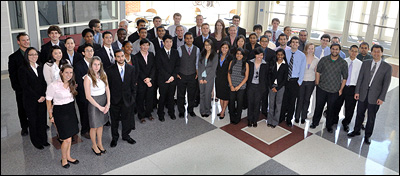 The Class of 2011 with BioE faculty and mentors.