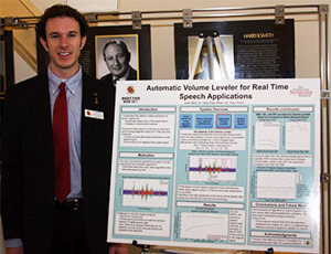 The MERIT-BIEN award for Best Overall Project went to Justin Bare, a rising ECE senior at the University of Maryland. His project, titled