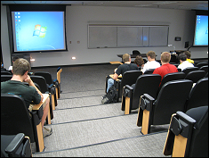 View of the newly renovated Resnik lecture hall